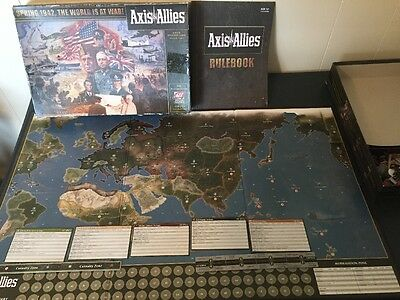 Avalon Hill Axis & Allies Spring 1942, The World At War 370 Piece Complete W/Box