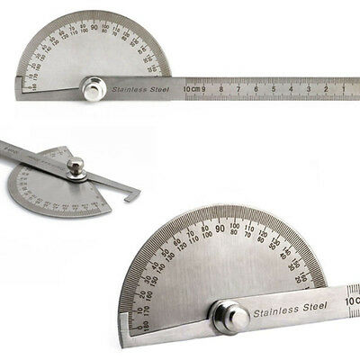 Protractor Stainless Steel 180 degree Angle Finder Arm Measuring Ruler Tools