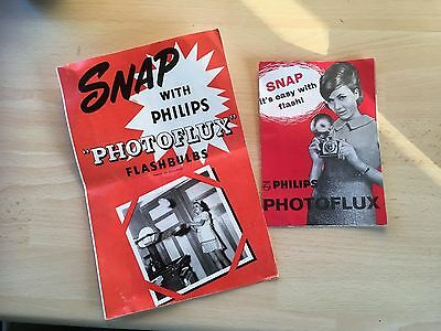 Philips Photoflux Flash Camera Leaflets - Vintage, add to your camera collection