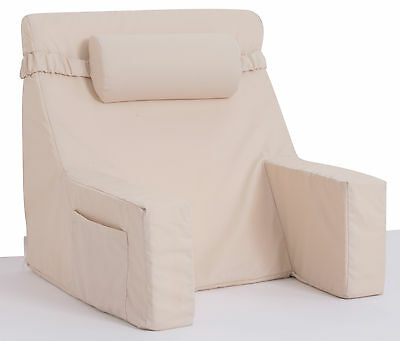 Bed Lounger With Cervical Roll - Relax In Bed Chair