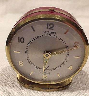 Vintage Jaeger LeCoultre 8 Day Alarm Clock | Swiss Made, Model 51