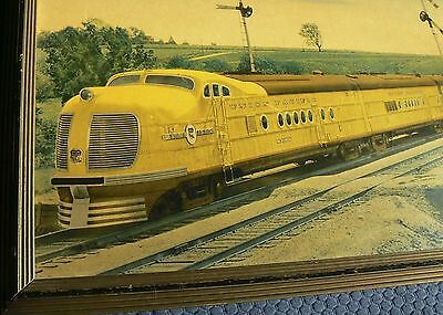"""Railroad Station Advertisement for the Union Pacific """"CITY OF DENVER"""" M-10000"""