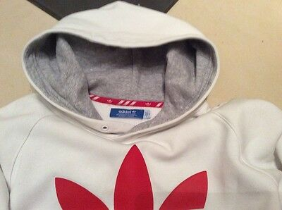 Adidas Mens Size M White Sweat Fitness Hooded Jacket