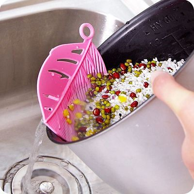 Clip Type Kitchen Device Washing Tool Drainer Rice Sieve Rice Strainer Filter