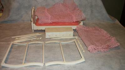 E127 Susy Goose 4-Poster Bed Canopy Chest 1960's Vintage Barbie Furniture Lot