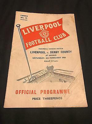Liverpool Vs Derby County 1959-60 (Second Division) Re-arranged Game