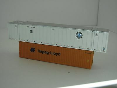 HO Containers x 2 40' Hapag-Lloyd & 53' BN Rail
