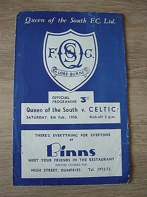 1957/58 Queen Of The South V Celtic