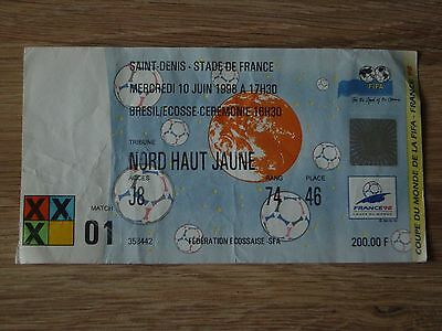 Ticket : 1998 World Cup - Brazil V Scotland Opening Game