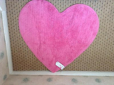 Heart shaped rug from Next New with tags