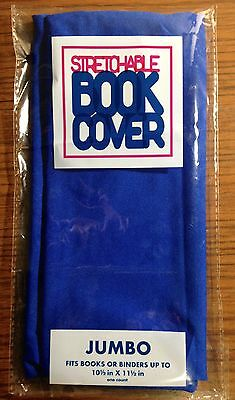 "NEW Stretchable Fabric Book Cover, Blue, Jumbo. Fits up to 10.5""x11.5"""