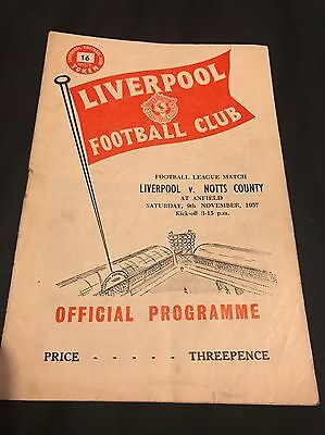 Liverpool Vs Notts County 1957-58 (Second Division)