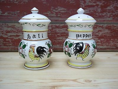 Vintage Royal Sealy Rooster Salt and Pepper Shakers 4 3/4 inch