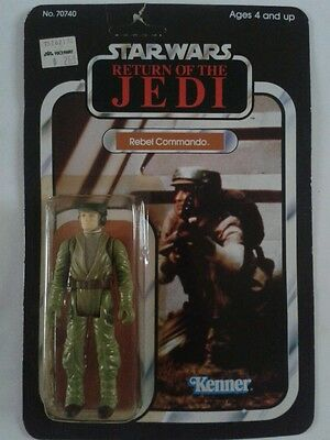 Star Wars Return Of The Jedi Rebel Commando Figure Vintage Moc Unpunched