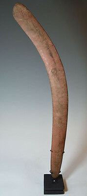 Large Old  Australian Aboriginal Boomerang central desert