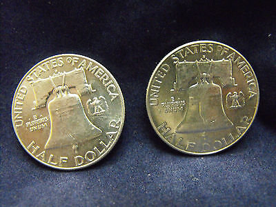 Liberty Bell Silver Half Dollars 1957 And 1963 (C2015282)