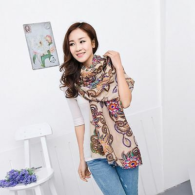 Totem Fashion Soft  Chiffon Women Stole Wrap Shawl Silk Scarf