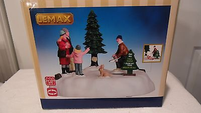 Christmas Village Tree Farm Family Is Haveing A Man Cut Christmas Tree, Animated