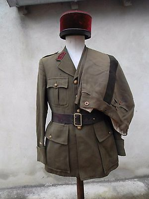 1940'S French Officers Uniform Hat with Belt Medical FRANCE 1940