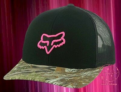 New Fox Racing Women's Camoto Camo Trucker Snapback  Cap Hat