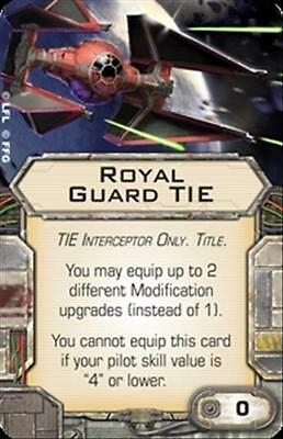 Star Wars X-wing Miniatures Royal Guard Tie TITLE upgrade card Imperial Aces