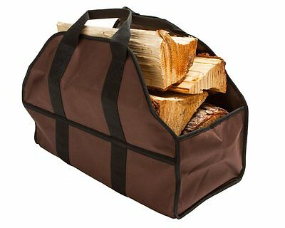 Premium Log Carrier & Wood Tote by SC Lifestyle Brown
