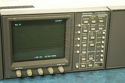 Tektronix 1760 Waveform Vector Monitor + Extra Chassis