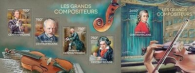 CA14622ab Central Africa 2014 The Great composers MNH SET