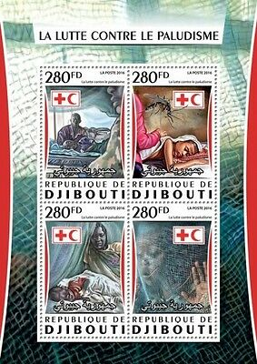 Z08 IMPERFORATED DJB16313a DJIBOUTI 2016 Malaria MNH