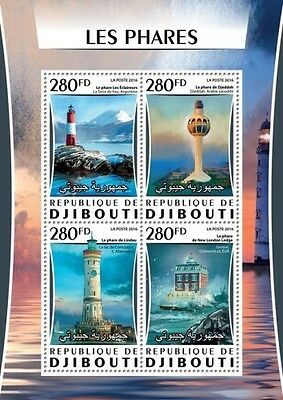 Z08 IMPERFORATED DJB16314a DJIBOUTI 2016 Lighthouses MNH