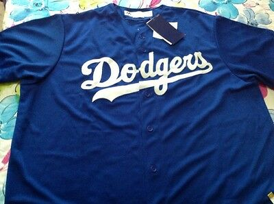 Men's Majestic DODGERS official Cool Base GONZALES 23Player Blue Jersey- XL ,new