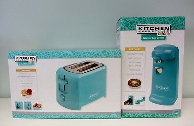 New Kitchen Selectives Electric Can Opener and  2-Slice Toaster -Teal
