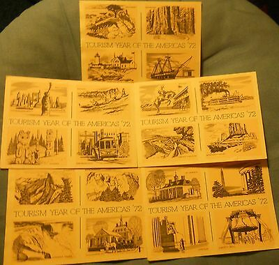 Tourism Year of the Americas '72 postcards
