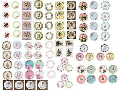 Dollhouse Miniature Shabby Chic Decals 1:12 Scale Plates #2