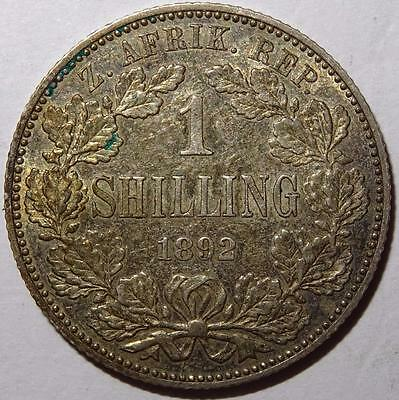 South Africa Kruger Shilling 1892 Choice Grade