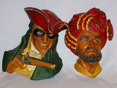 Set Of 2 Vintage Bossons Large Wall Plaques With Bossons Stamp To Back Nice Cond