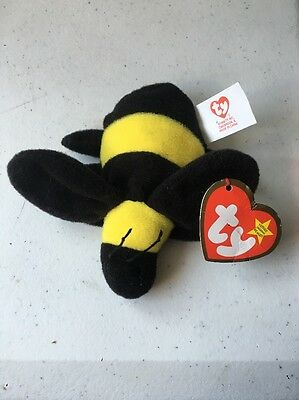 McDonald s TY Teenie Beanie Babies  6 BUMBLE THE BEE Happy Meal Toy 079fa373ea72