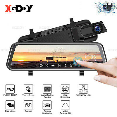 7.0'' HD 1080P Dual Lens Car DVR Vehicle Rearview Mirror Video Recorder Dash Cam
