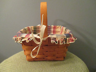 1994 Longaberger Large Berry Basket with Liner and Protector