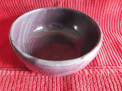Bybee Pottery Purple Cereal Bowl 5 1/2""