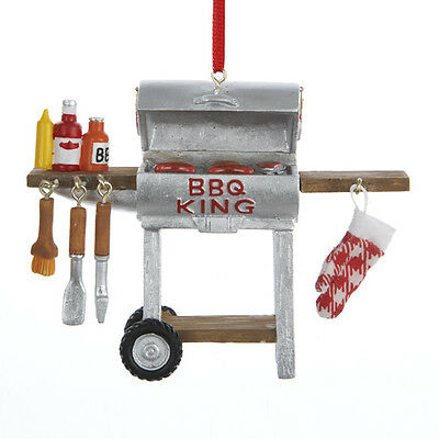 "Kurt Adler ""BBQ King"" Ornament #A1171 Grill & Accesories Christmas Ornament NEW"