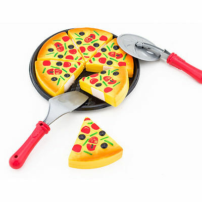 Kids Kitchen Pizza Fast Food Slices Cutting Pretend Play Food Baby Training Toys