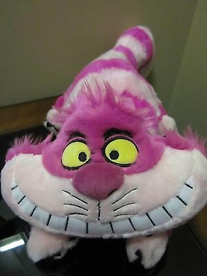 "Disney Store ""Cheshire Cat"" Plush Pink 19"" Long Has Tag Attached"