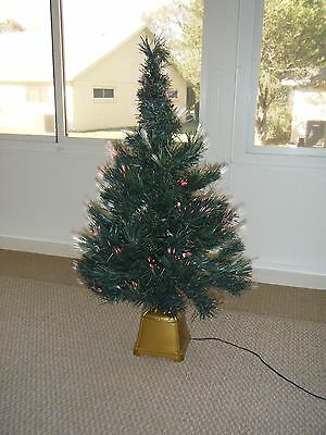 Holiday Time Green Color Changing Fiber Optic 32 Inch Christmas Tree
