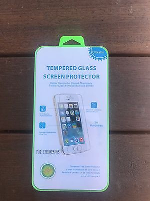 iPhone 5, 5s, 5c Tempered Glass Screen Protector