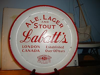 CANADIAN LABATT'S ALE PORCELAIN ADVERTISING BEER TRAY SIGN LONDON ONT Union Made