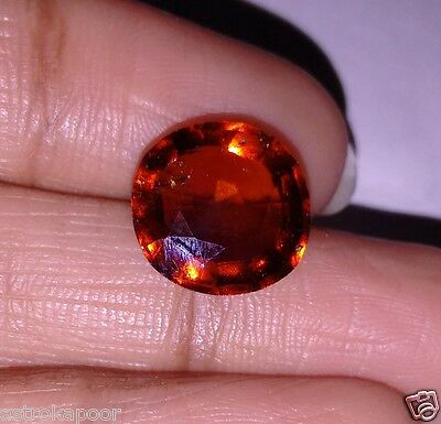 6.64 CT HESSONITE Ceyloni Certified Natural High Lustrous Astrological Gemstone