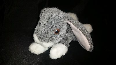 "Applause Gray Bunny Rabbit Plush 11"" Stuffed Animal Easter White Realistic"
