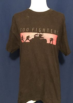 vintage 2002 Foo Fighters One By One TOUR CONCERT TSHIRT shirt Roswell Records M