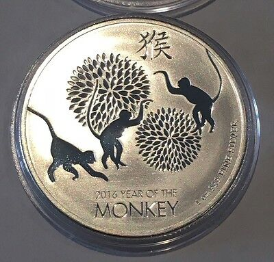 2016 Year Of The Monkey Niue Collectible Coin 1 Troy Oz .999 Fine Silver Round